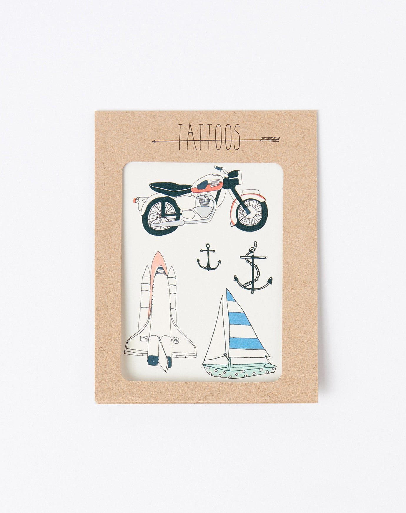 Motorcycle Temporary Tattoos