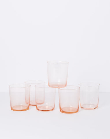 Chroma Glass Tumbler in Blush