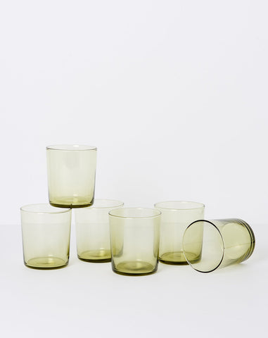 Chroma Glass Tumbler in Olive