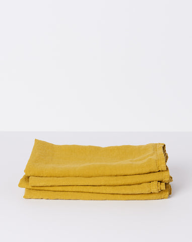 Simple Linen Napkin in Mustard