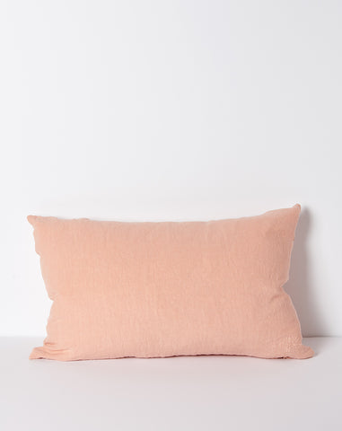 Simple Linen Pillow in Blush