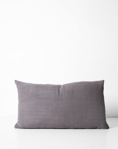 Simple Linen Pillow in Dark Grey