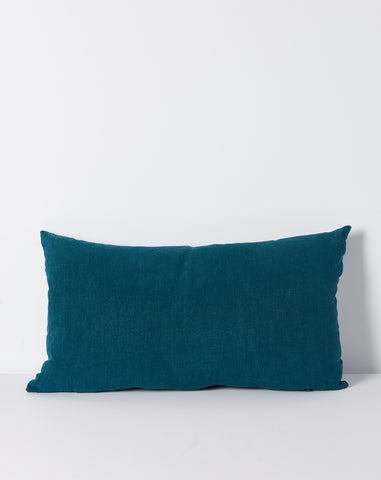 Simple Linen Pillow in Peacock