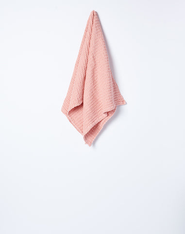 Simple Waffle Hand Towel in Blush