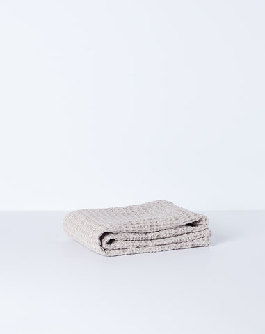 Simple Waffle Hand Towel in Light Grey