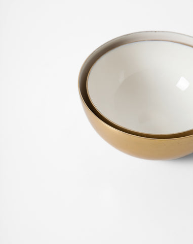 Hawkins New York Medium Louise Brass and Enamel Bowl