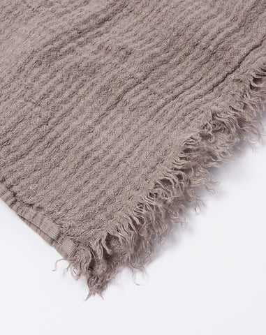 Simple Linen Throw in Dark Grey
