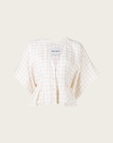Squid Blouse in Light Check