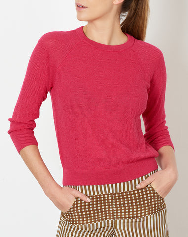 Agnes Sweater in Fuschia