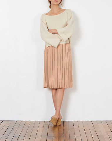 Giselle Skirt in Peach Metallic