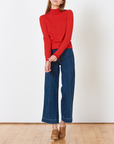 Lucien Turtleneck in Poppy Red