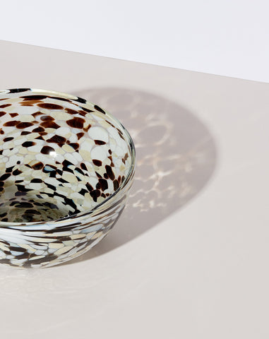 Confetti Glassware Serving Bowl in Espresso