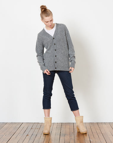 Will O The Wisp Cardigan in Medium Grey