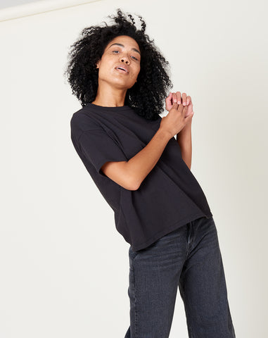 Wide T-Shirt in Black