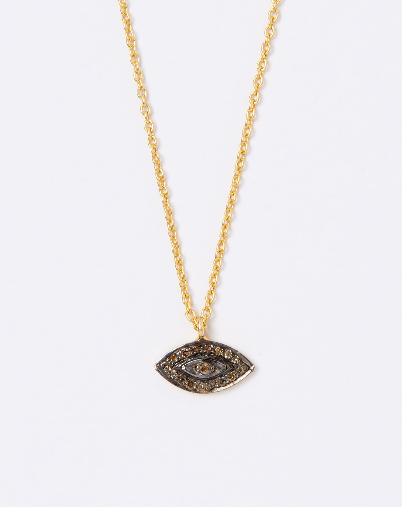 pendant charm luck good polished jewelry x genuine gold solid evil mm eye dp new com yellow fancy amazon design