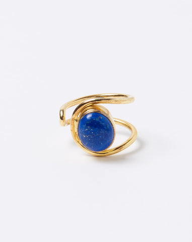 Open Loop Lapis Ring