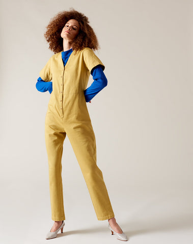 Dora Coverall in Ochre