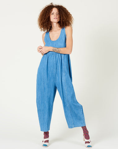Heana Jumpsuit in Faded Denim
