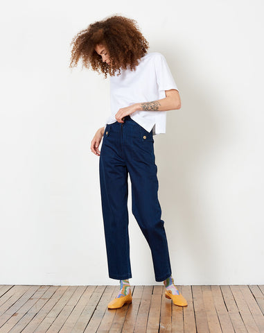 Huxie Pant in Denim