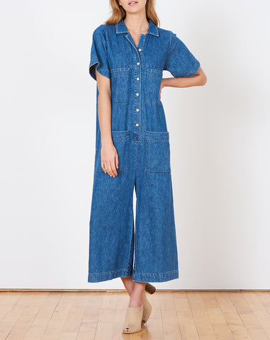 Mabell Coverall in Denim