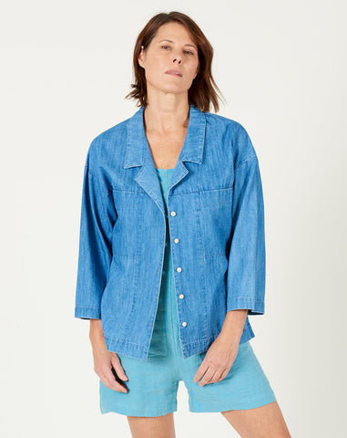 Mapes Shirt in Faded Denim
