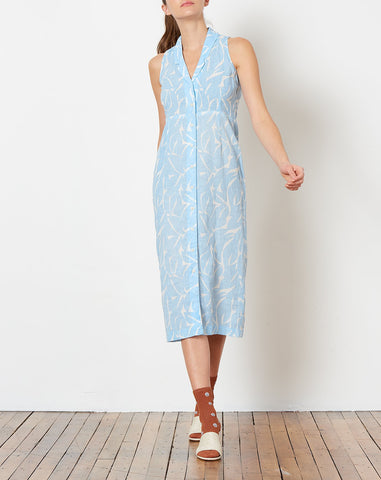 Meri Dress in Leaf Print