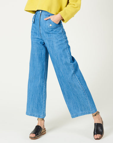 Mia Pants in Faded Denim