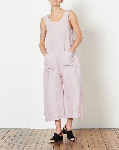 Milo Jumpsuit in Lilac Light Linen
