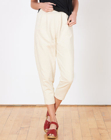 Terry Nico Pants in Cream