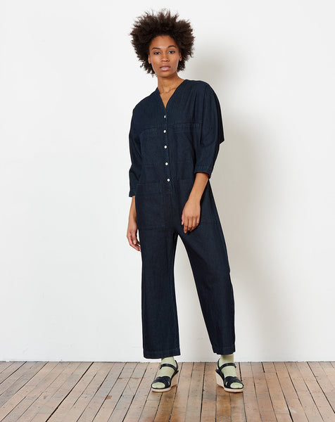 b721710237f Ilana Kohn Tuck Coverall in Denim ...