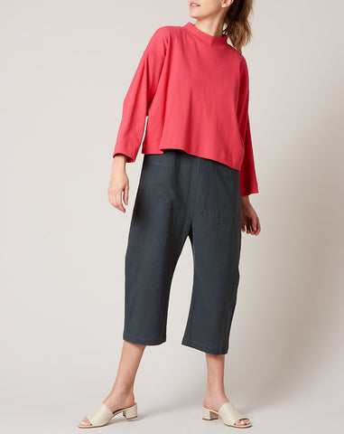Phoebe Shirt in Punch Rib Jersey