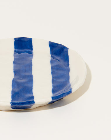 Ribbon Plate in Cobalt