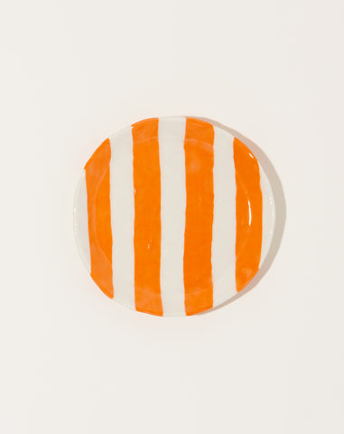 Ribbon Plate in Orange