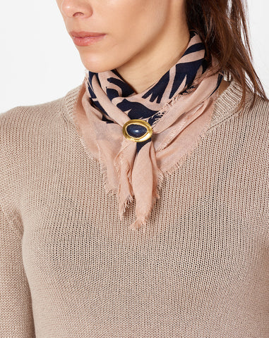 Graphic Arrows Scarf With Stone