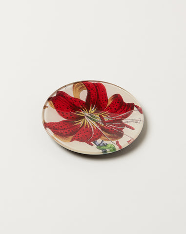 "Red Lily 4"" Round"