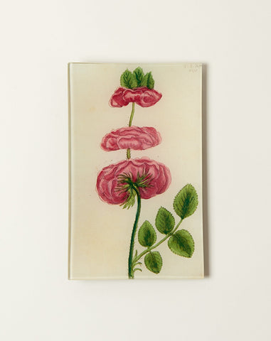 Triple Rose Rectangular Tray