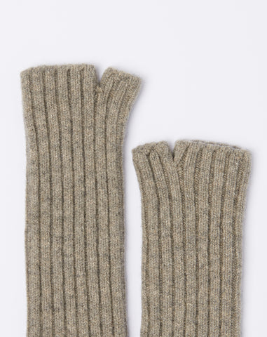 5G Long Wool Gloves in Grey