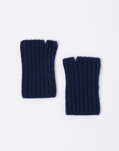5G Short Wool Gloves in Navy