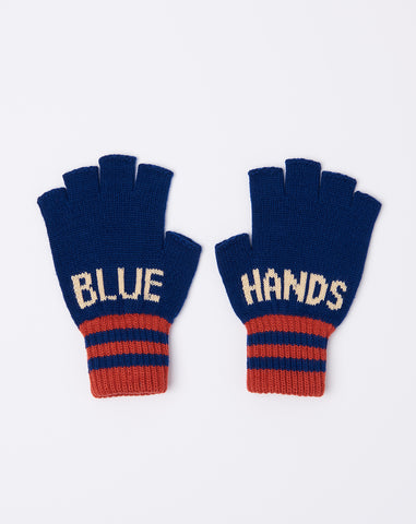 7G Fingerless Blue Hands Gloves