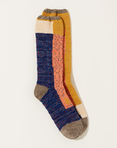 Gabbeh Patchwork Socks in Grey