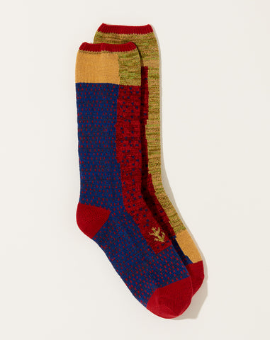 Gabbeh Patchwork Socks in Red