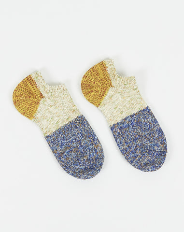 Kapital Ankle Slub Gogh Socks in Blue