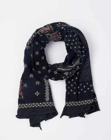 Bandana Patchwork Scarf in Black