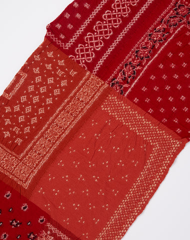 Bandana Patchwork Scarf in Red