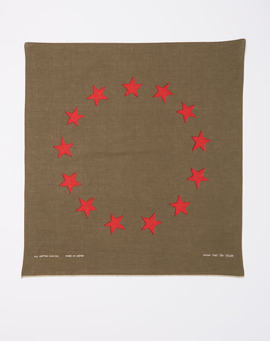 Betsy Ross Fast Color Selvedge Bandana in Khaki