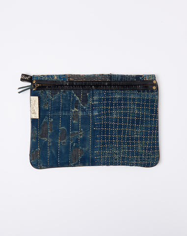 Boro Clutch in Indigo