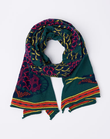 Cobras Scarf in Green