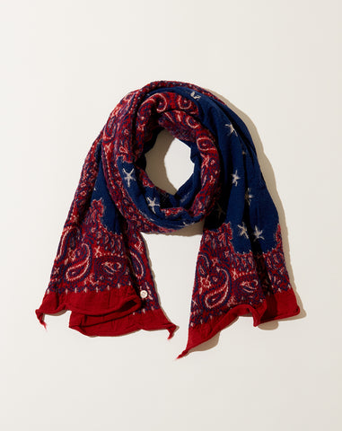 Cosmic Star Scarf in Red