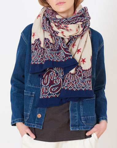 Cosmic Star Scarf in Navy
