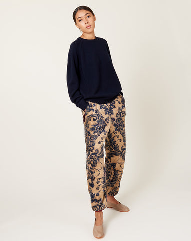 Damask Fleece Easy Pants